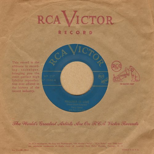 Como, Perry - Prisoner Of Love/Temptation (with vintage RCA copany sleeve) - EX8/ - 45 rpm Records