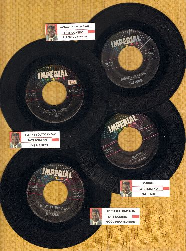 Domino, Fats - Fats Domino 4-Pack: Hits include Jambalaya, I Want You To Know, Margie, Let The Four Winds Blow. Shipped in plain white company sleeve and juke box labels. GREAT for a juke box! - VG7/ - 45 rpm Records