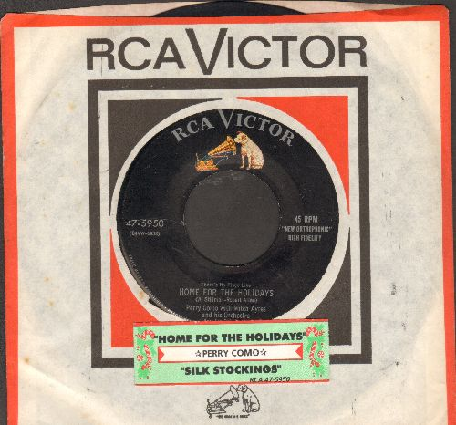 Como, Perry - Home For The Holidays/Silk Stockings (with juke box label and RCA company sleeve) - EX8/ - 45 rpm Records
