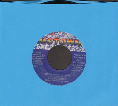 Commodores - Three Times A Lady/Look What You've Done To Me  - VG6/ - 45 rpm Records
