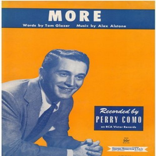 Como, Perry - More - SHEET MUSIC for the song made popular by Perry Como and other artists. This is SHHET MUSIC, not any other kind of media! - EX8/ - Sheet Music