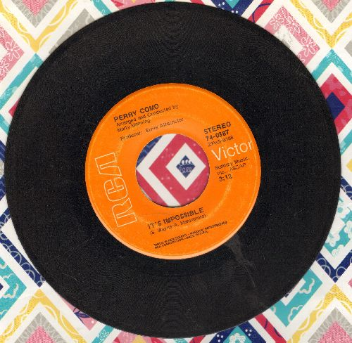Como, Perry - It's Impossible/Long Life, Lots Of Happiness - VG7/ - 45 rpm Records