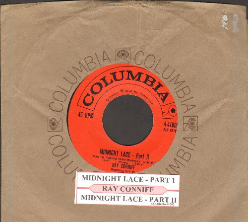 Conniff, Ray & His Orchestra & Chorus - Midnight Lace (Parts 1 +2) (with juke box label and Columbia company sleeve) - EX8/ - 45 rpm Records