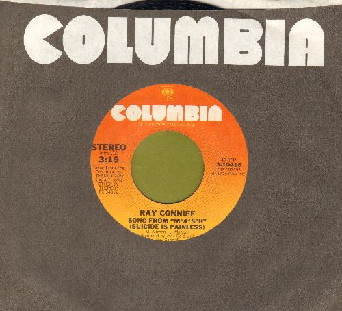 Conniff, Ray & His Singers - Song From M*A*S*H* (Suicide Is Painless)/Theme From Police Story (with Columbia company sleeve) - NM9/ - 45 rpm Records