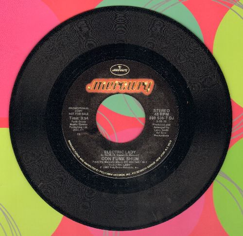 Con Funk Shun - Electric Lady (double-A-sided DJ advance pressing) - NM9/ - 45 rpm Records