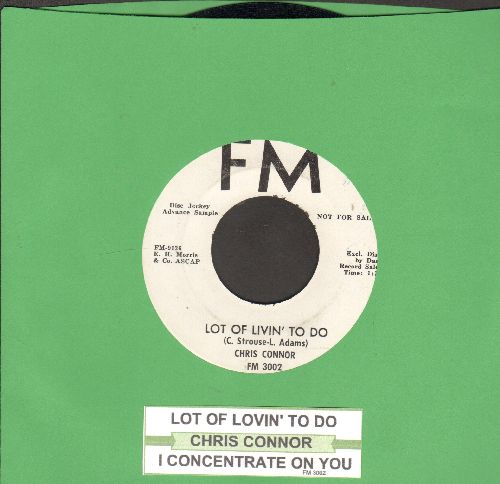 Connor, Chris - Lot Of Lovin' To Do/I Concentrate On You (DJ advance pressing with juke box label) - NM9/ - 45 rpm Records