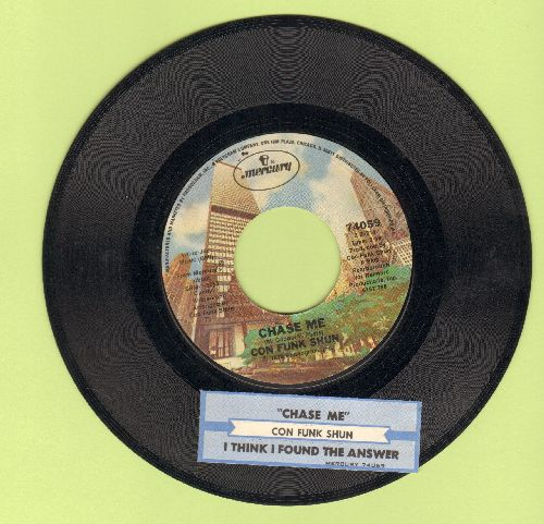 Con Funk Shun - Chase Me/I Think I Found The Answer (with juke box label) - EX8/ - 45 rpm Records
