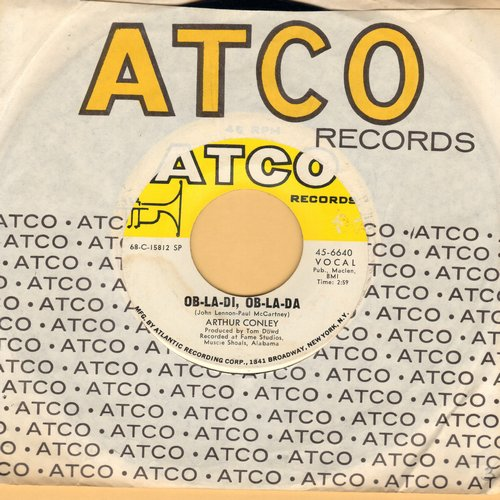 Conley, Arthur - Ob-La-Di, Ob-La-Da/Otis Sleep On (with Atco company sleeve, minor wol) - VG7/ - 45 rpm Records
