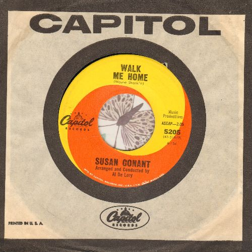 Conant, Susan - Walk Me Home (ENCHANTING 60s Girl-Sound Love Ballad)/Little Boy Lost (near mint vinyl condition, label blemish on B-side) (with vintage Capitol company sleeve) - EX8/ - 45 rpm Records