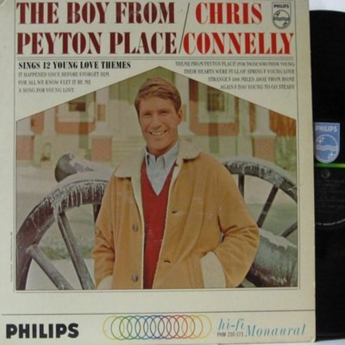 Connelly, Chris - The Boy From Peyton Place: Theme From Peyton Place, Young Love, Forget Him, Strange, 500 Miles Away From Home, For All We Know (Vinyl MONO LP record) - NM9/EX8 - LP Records
