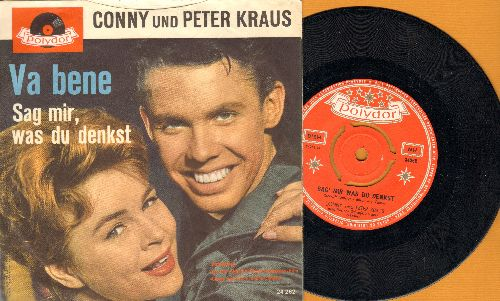 Conny und Peter Kraus - Sag mir, was du denkst/Va bene (Dutch Pressing with picture sleeve, NICE condition!) - NM9/EX8 - 45 rpm Records