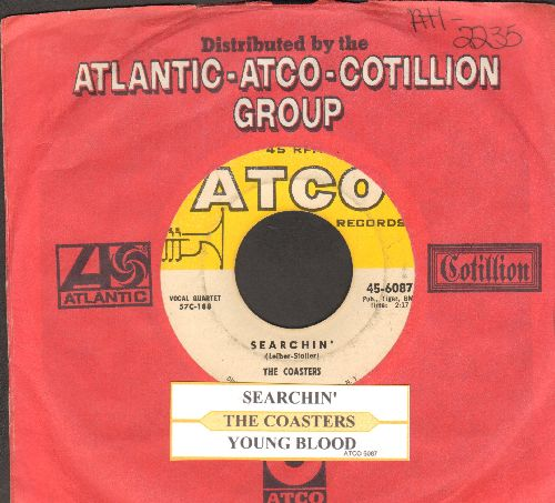 Coasters - Searchin'/Young Blood (with juke box label and company sleeve) - VG7/ - 45 rpm Records