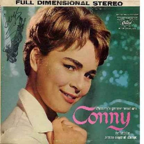 Conny (Froboess) - Conny: Lippenstift Am Jacket (Lipsick On Your Collar), Little Girl (This Little Girl's Gone Rockin'), Ein Maedchen Mit 16, Kleine Lucienne, Mister Music, Lieber Disc-Jockey (Vinyl STEREO LP record, US Pressing, sung in German) - EX8/VG7