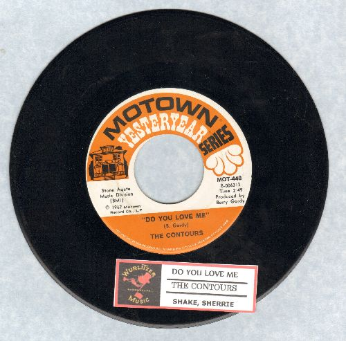 Contours - Do You Love Me/Shake, Sherrie (double-hit re-issue with juke box label) - NM9/ - 45 rpm Records