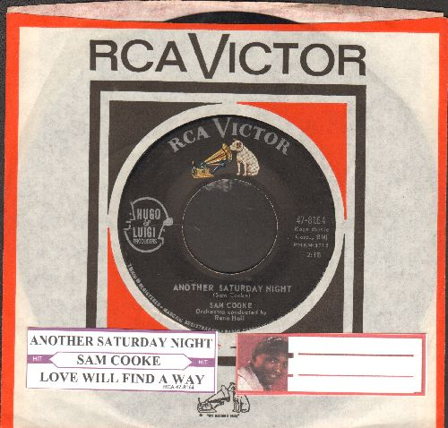 Cooke, Sam - Another Saturday Night/Love Will Find A Way (with juke box label and RCA company sleeve) - VG7/ - 45 rpm Records