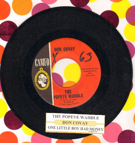 Covay, Don - The Popeye Waddle/One Little Boy Had Money (with juke box label) - NM9/ - 45 rpm Records