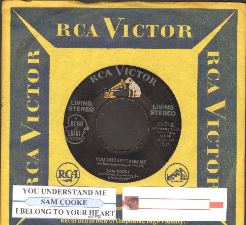 Cooke, Sam - I Belong To Your Heart/You Understand Me (RARE Living STEREO pressing with juke box label and RCA company sleeve) - NM9/ - 45 rpm Records