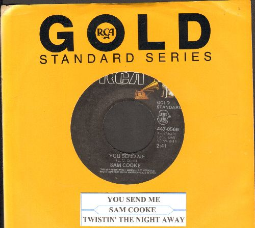 Cooke, Sam - You Send Me/Twistin' The Night Away (double-hit re-issue with juke box label and RCA company sleeve) - NM9/ - 45 rpm Records