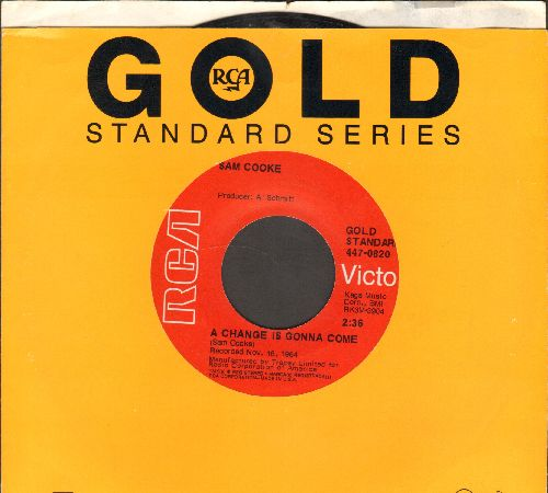 Cooke, Sam - A Change Is Gonna Come/Sad Mood (double-hit re-issue with RCA company sleeve) - EX8/ - 45 rpm Records