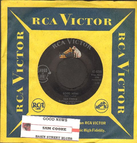 Cooke, Sam - Good News/Basin Street Blues (with juke box label RCA company sleeve) - NM9/ - 45 rpm Records