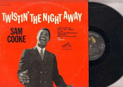 Cooke, Sam - Twistin' The Night Away: The Twist, Camptown Twist, Somebody Have Mercy, Twistin' In The Kitchen With Dinah, Movin' And A'Groovin' (vinyl STEREO LP record) - EX8/VG7 - LP Records