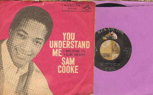Cooke, Sam - I Belong To Your Heart/You Understand Me (with picture sleeve) - EX8/VG7 - 45 rpm Records