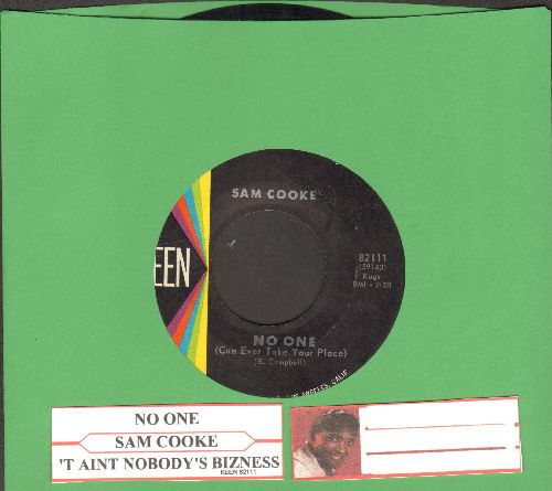 Cooke, Sam - No One (Can Ever Take Your Place)/'Taint Nobody's Bizness (If I Do)(with juke box label) - NM9/ - 45 rpm Records