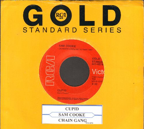 Cooke, Sam - Cupid/Chain Gang (double-hit re-issue with juke box label and company sleeve) - EX8/ - 45 rpm Records
