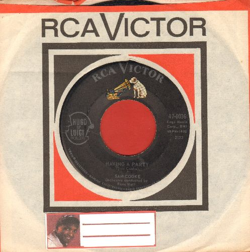 Cooke, Sam - Having A Party/Bring It On Home To Me (with RCA company sleeve) - VG7/ - 45 rpm Records