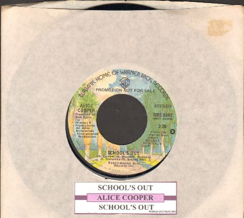 Cooper, Alice - School's Out ((double-A-sided DJ advance pressing with juke box label and company sleeve) - NM9/ - 45 rpm Records