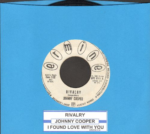 Cooper, Johnny - Rivalry/I Found Love With You (DJ advance pressing with juke box label) - EX8/ - 45 rpm Records
