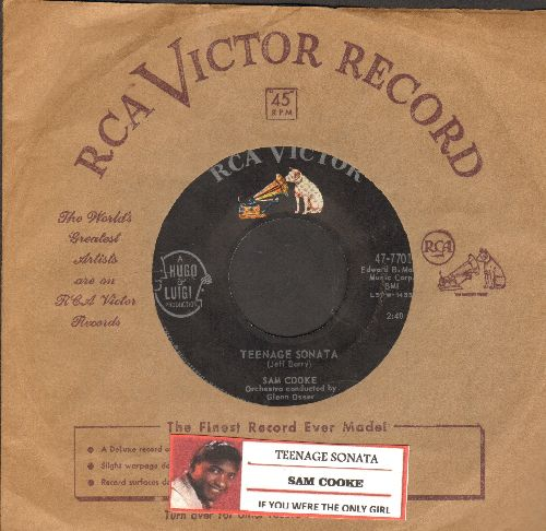 Cooke, Sam - Teenage Sonata/If You Were The Only Girl (with RCA company sleeve and juke box label) - EX8/ - 45 rpm Records