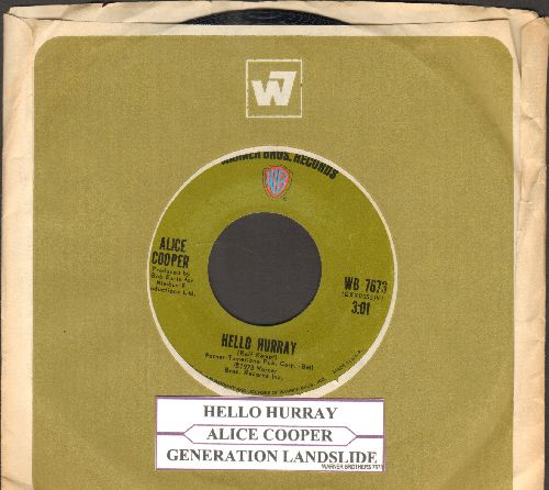 Cooper, Alice - Hello Hurray/Generation Landslide (with juke box label and company sleeve) - EX8/ - 45 rpm Records