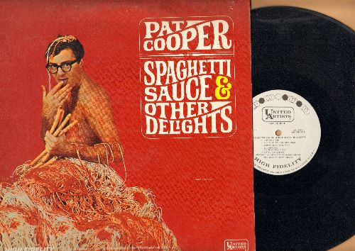 Cooper, Pat - Spaghetti Sauce & Other Delights - Hilarious Comedy Classic with parody cover art reminiscent of the Herb Alpert -Whipped Cream- LP cover! (vinyl MONO LP record, DJ advance pressing) - NM9/VG7 - LP Records
