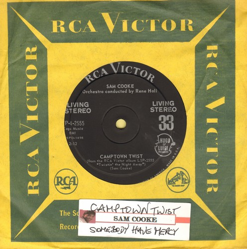 Cooke, Sam - Camptown Twist/Somebody Have Mercy (RARE 7 inch STEREO 33rpm record with RCA company sleeve) - NM9/ - 45 rpm Records