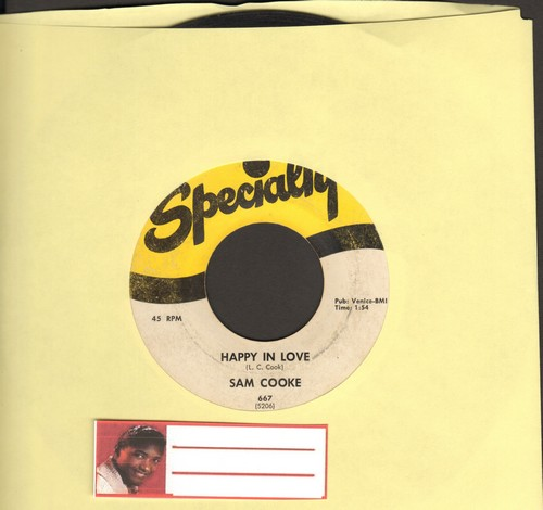 Cooke, Sam - Happy In Love/I Need You Now - VG6/ - 45 rpm Records