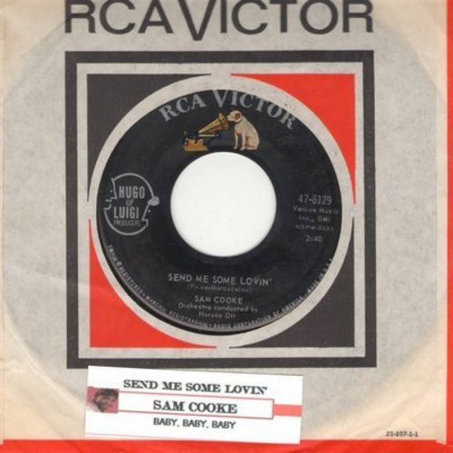 Cooke, Sam - Send Me Some Lovin'/Baby, Baby, Baby (with vintage RCA company sleeve) - EX8/ - 45 rpm Records