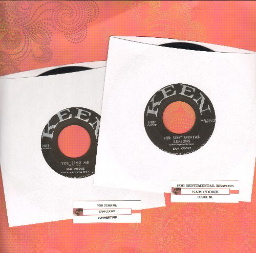 Cooke, Sam - 2 for 1 Special: You Send Me/For Sentimental Reasons (2 vintage first issue 45rpm records with juke box label for the price of 1!) - VG6/ - 45 rpm Records