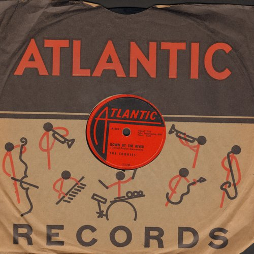 Cookies - Down By The River/My Lover (10 inch 78rpm record with Atlantic company sleeve) - NM9/ - 78 rpm
