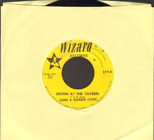 Cook, John & Margie - Down At The Tavern/We Are Drifting Apart - EX8/ - 45 rpm Records