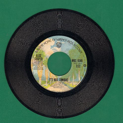 Cooper, Alice - It's Hot Tonight/You And Me  - EX8/ - 45 rpm Records