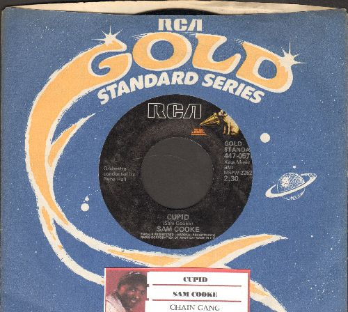 Cooke, Sam - Cupid/Chain Gang (double-hit re-issue with RCA company sleeve and juke box label) - NM9/ - 45 rpm Records