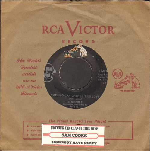 Cooke, Sam - Somebody Have Mercy/Nothing Can Change This Love (with juke box label and vintage RCA company sleeve) - NM9/ - 45 rpm Records