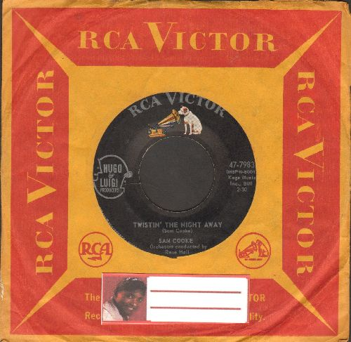 Cooke, Sam - Twistin' The Night Away/One More Time (with RCA company sleeve) - EX8/ - 45 rpm Records
