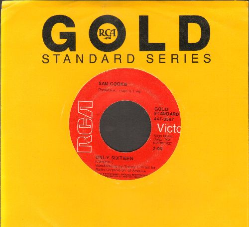 Cooke, Sam - Only Sixteen/For Sentimental Reasons (red label early double-hit re-issue with company sleeve) - EX8/ - 45 rpm Records