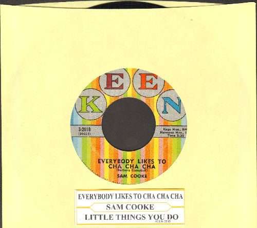 Cooke, Sam - Everybody Loves To Cha Cha Cha/Little Things You Do (NICE condition with juke box label) - NM9/ - 45 rpm Records