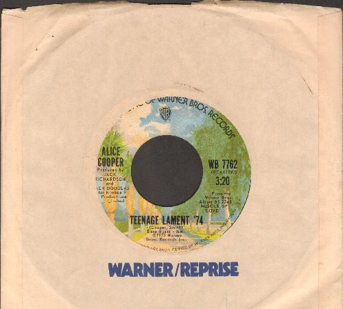 Cooper, Alice - Teenage Lament '74/Hard Headed Alice (with Warner Brothers company sleeve) - NM9/ - 45 rpm Records