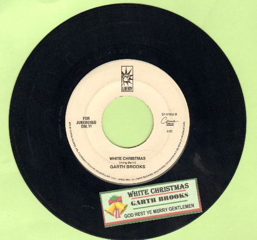Brooks, Garth - White Christmas/God Rest Ye Merry Gentlemen (DJ copy with juke box label) - NM9/ - 45 rpm Records