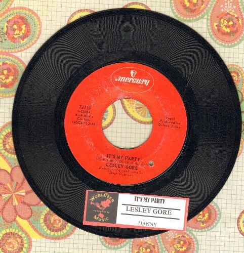 Gore, Lesley - It's My Party/Danny (red label second pressing with juke box label)(bb) - EX8/ - 45 rpm Records
