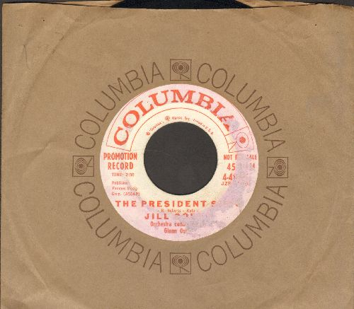 Corey, Jill - The Presidents (RARE NOVELTY!)/Have I Told You Lately That I Love You (DJ advance pressing with Columbia company sleeve, label blemish) - EX8/ - 45 rpm Records